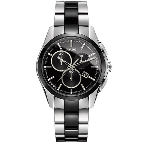 rado hyperchrome chronograph steel black ceramic quartz