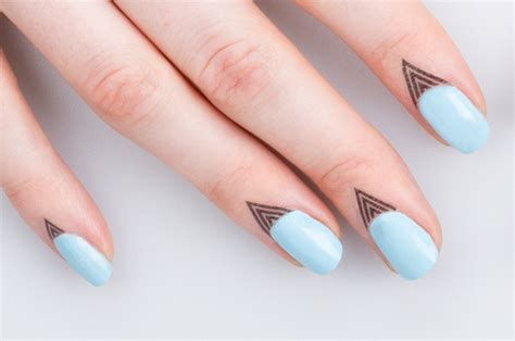 cuticle tattoo put your cuticles in the ink temporary