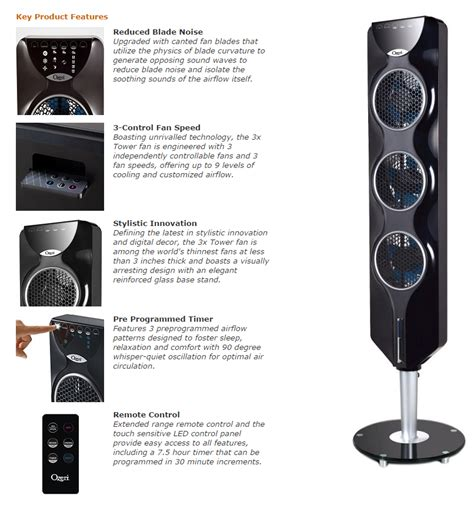 ozeri 3x tower fan review ozeri 3x tower fan with passive noise reduction