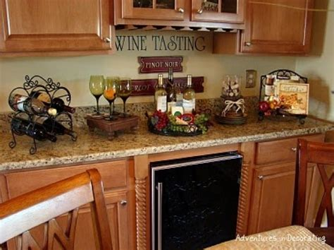kitchen decor ideas pictures wine themed kitchen paint ideas decolover net