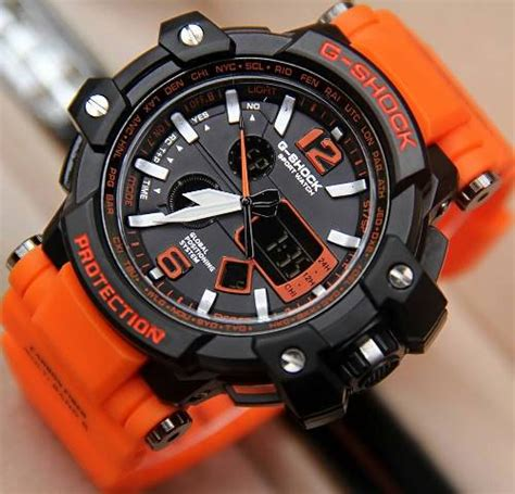 Reddington R8034 Silver Black Orange jam tangan g shock gpw1000 tali orange g shock gravitymaster