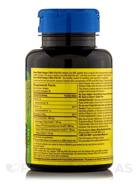 Omeheart Mini Capsules Omega 3 Fish 30 Capsules Om3heart fish 500 mg omega 3 360 mg mini 60 softgels