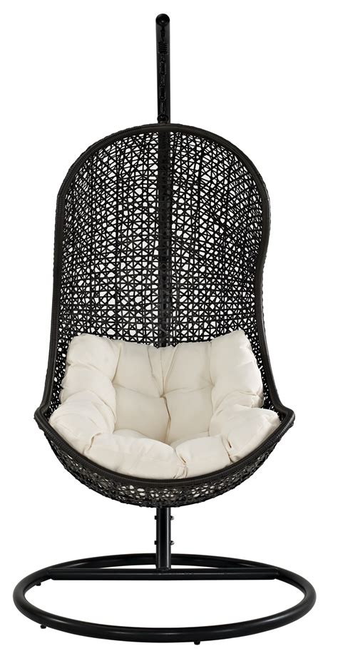 rattan swing chair the parlay rattan outdoor patio swing chair eei 806 set