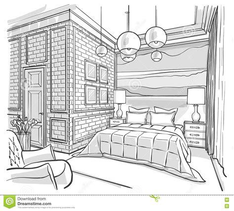 dessin chambre d enfant desenho de esbo 231 o interior do vetor do esbo 231 o do quarto