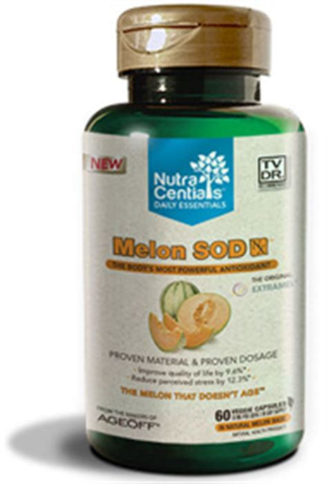 Essentials Melon melon sod nx with extramel 174 60 veggie capsules