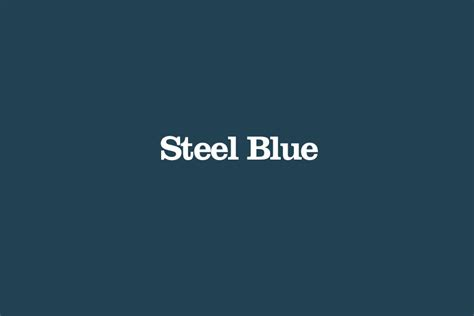 image gallery steel blue