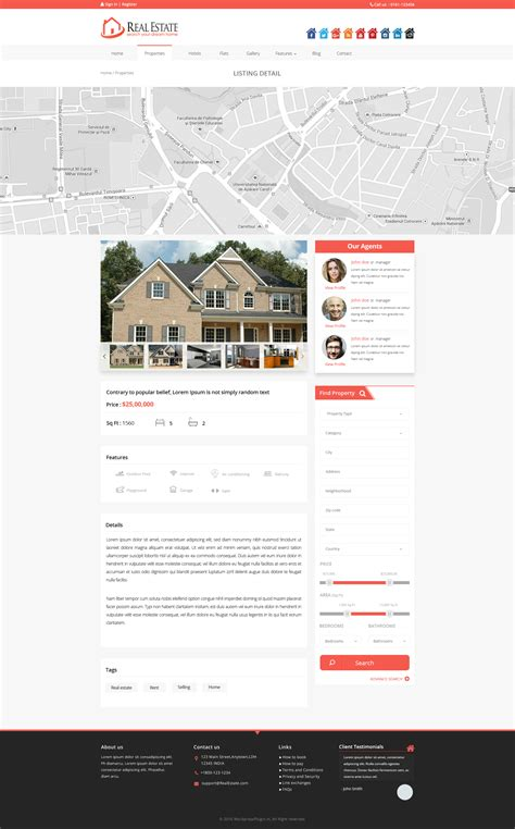 themeforest listing real estate wordpress theme by tmdstudio themeforest