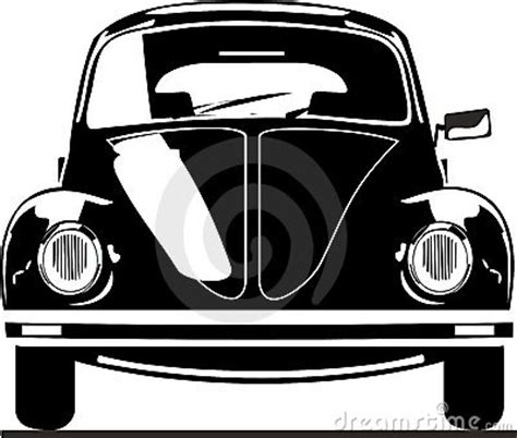 vw beetle front view stock image image