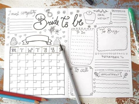 printable wedding planner journal bride to be wedding planner journal wedding ideas agenda