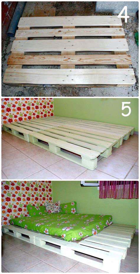 diy pallet bed frame tutorial 11 pallet bed ideas step by step pallet bed frame tutorials page 4 of 5 diy crafts