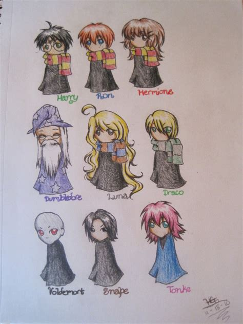 draw and color the baylee jae way characters clothing and settings step by step books harry potter chibis by muffinwifblueberries on deviantart