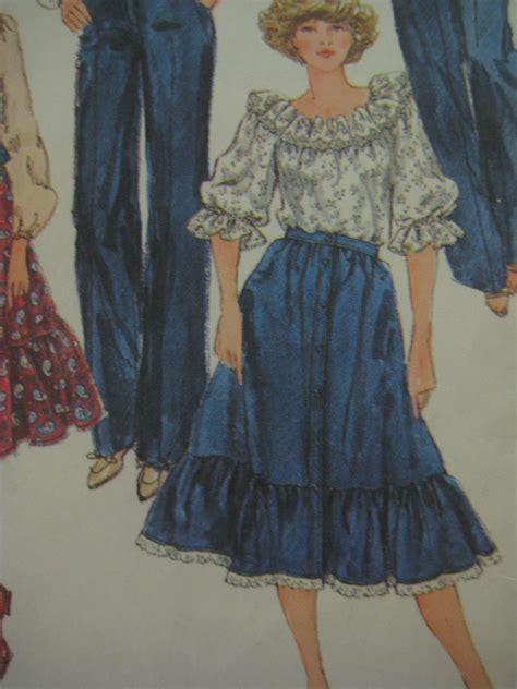 vtg 80s simp5335 ruffled skirt blouse sew pattern ebay