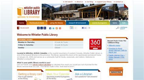 web layout library public library web design development