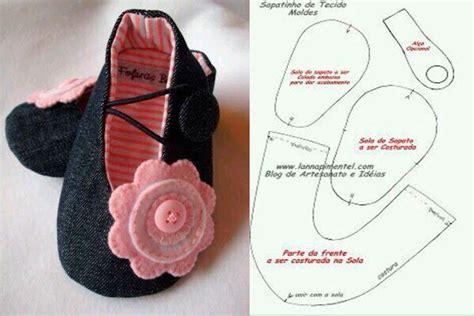 como hacer zapatos para bebe de tela moldes y modelos para hacer zapatillas de tela para bebes