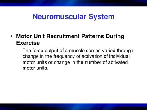 pattern of motor unit recruitment chapter 1 structure and function of the muscular