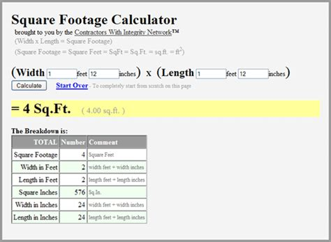 Square Feet Calc by 28 Best Square Foot Calculator Square Feet In Diameter