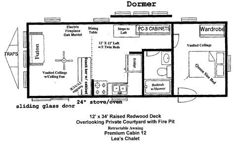16 X 40 Cabin Floor Plans Floor Plans For A 12 X 32 House