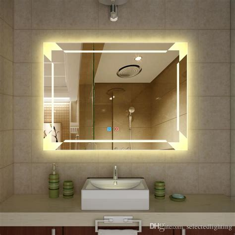 lighted bathroom wall mirror large wall lights design