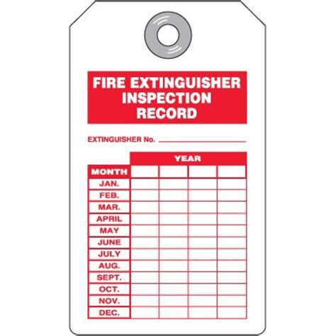 extinguisher inspection tag template printable extinguisher signs cliparts co