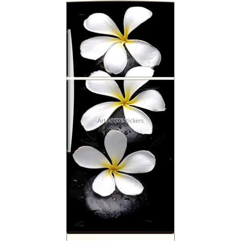 sticker frigo d 233 co cuisine fleurs et galets noirs