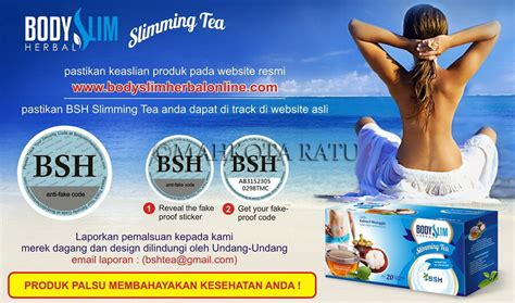 Teh Bsh bsh tea teh pelangsing alami slim herbal