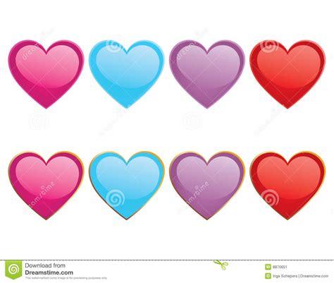 imagenes de corazones grandes y brillantes corazones brillantes ilustraci 243 n del vector imagen de