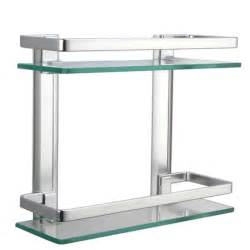 small glass bathroom shelves aliexpress buy kes a4126 aluminum bathroom 2 tier