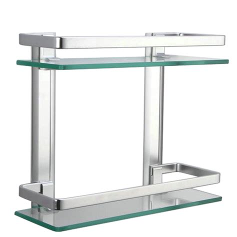 glass bookshelves wall mount aliexpress buy kes a4126b aluminum bathroom 2 tier retangular glass shelf wall mounted