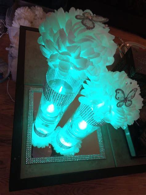led quinceanera centerpiece idea vase led lighting