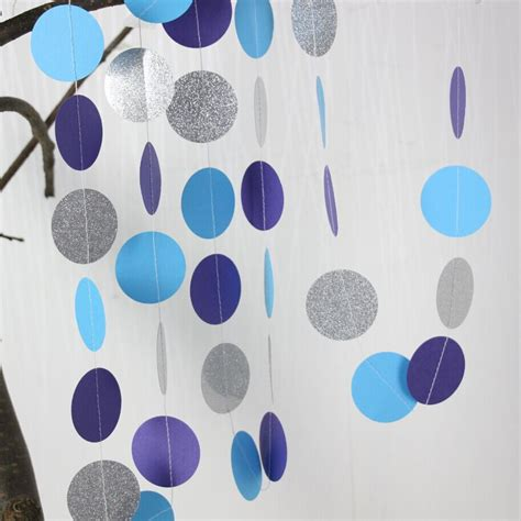 Blue And Purple Birthday Decorations by 5pcs Purple Blue Silver Garland Birthday Decor