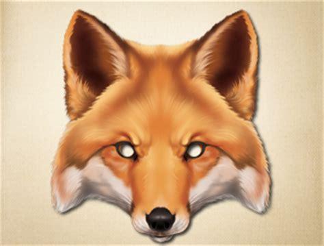 fantastic mr fox mask template unpredictable fox animal mask to print the printable