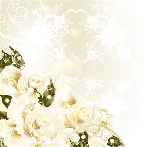 floral wedding background for your virtual wedding