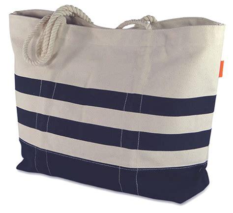Travel Bag Kanvas Kiwi striped canvas tote