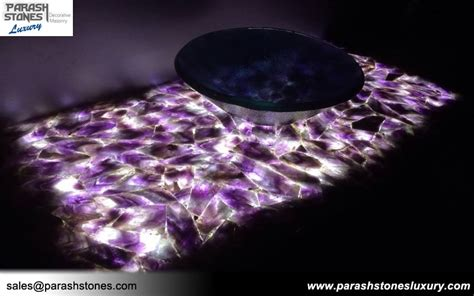 Amethyst Countertop semi precious slab furniture wholesale price