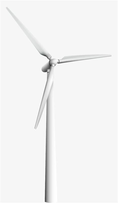 Vector White Windmill, Vector, Wind, Windmill PNG
