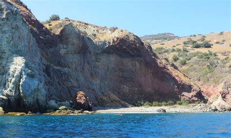 catalina island shore boats lava wall beach on catalina island avalon ca