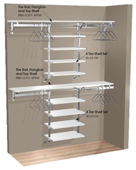 space organizers arrange a space 71 in double hang wall closet with 8