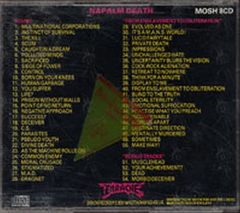 Cd Napalm From Enslavement To Obliteration Import napalm from enslavement to obliteration album cd