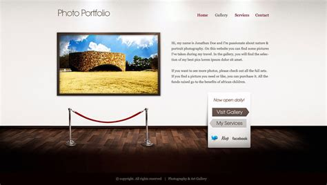 Art Gallery Website By Lickmystyle On Deviantart Photo Gallery Website Template Free