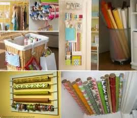 Gift Wrap Storage Ideas - creative organizing ideas gift wrapping storage