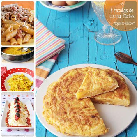 de recetas de cocina 8 recetas de cocina f 225 ciles para principiantes pequerecetas