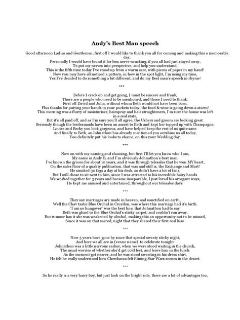 Best Man Speech Examples   3 Free Templates in PDF, Word