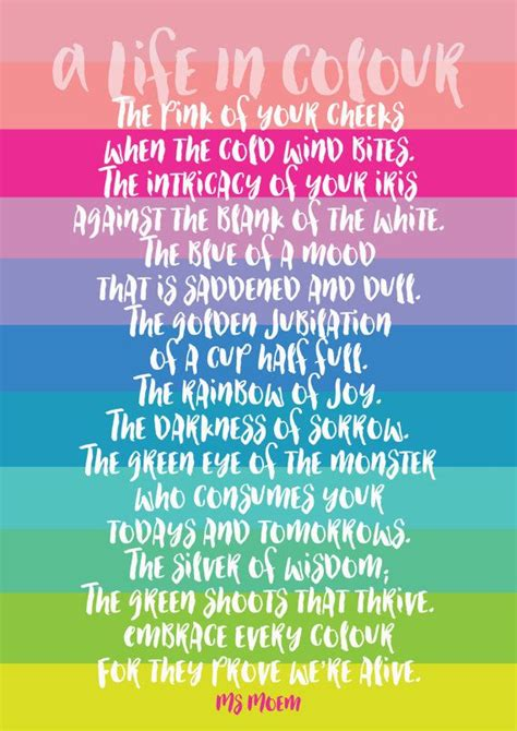 poems about colors poem print a in colour digital print living