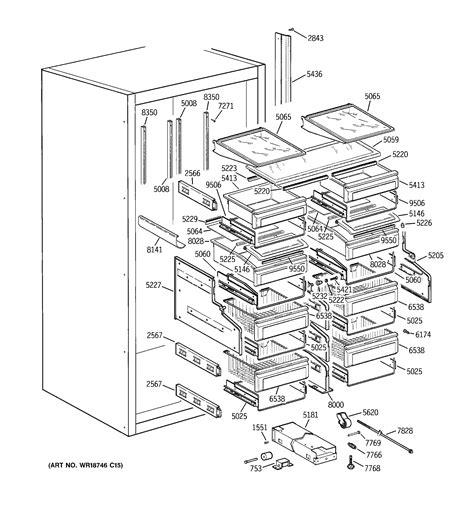 ge profile refrigerator diagram refrigerator parts ge profile refrigerator parts diagram