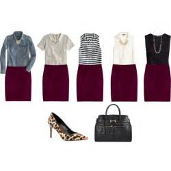 Sleeveless Draped Cardigan Wine Colored Pencil Skirt Ideas Polyvore