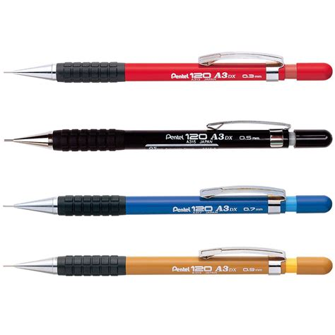 9 Of My Favorite Mechanical Pencils by Pentel 120 A3dx Mechanical Pencil 0 3mm 0 5mm 0 7mm 0 9mm