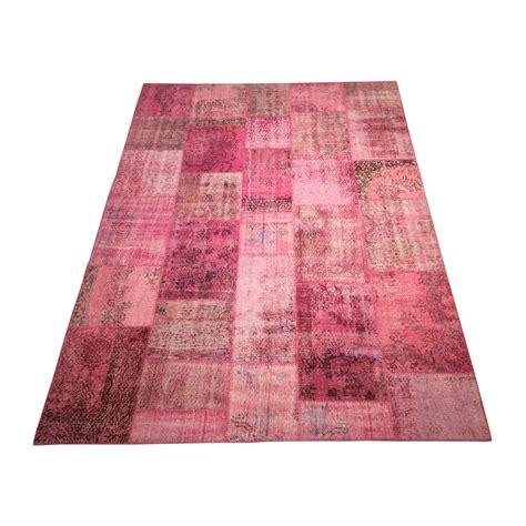 Carpet Patchwork - overdyed patchwork carpet pink