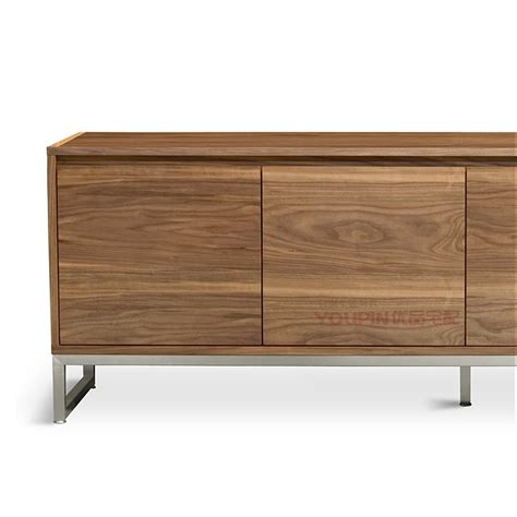 Scandinavian Modern Style Sideboard Walnut Veneer Storage Designer Home Furniture