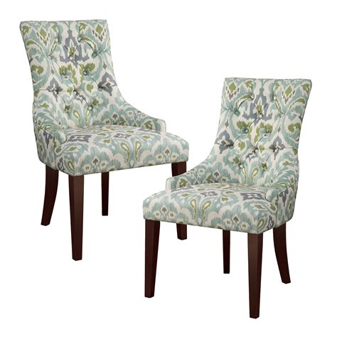 park corbel tufted back dining chair set of 2 ebay