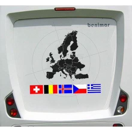Aufkleber Globus Wohnmobil by Aufkleber Europakarte